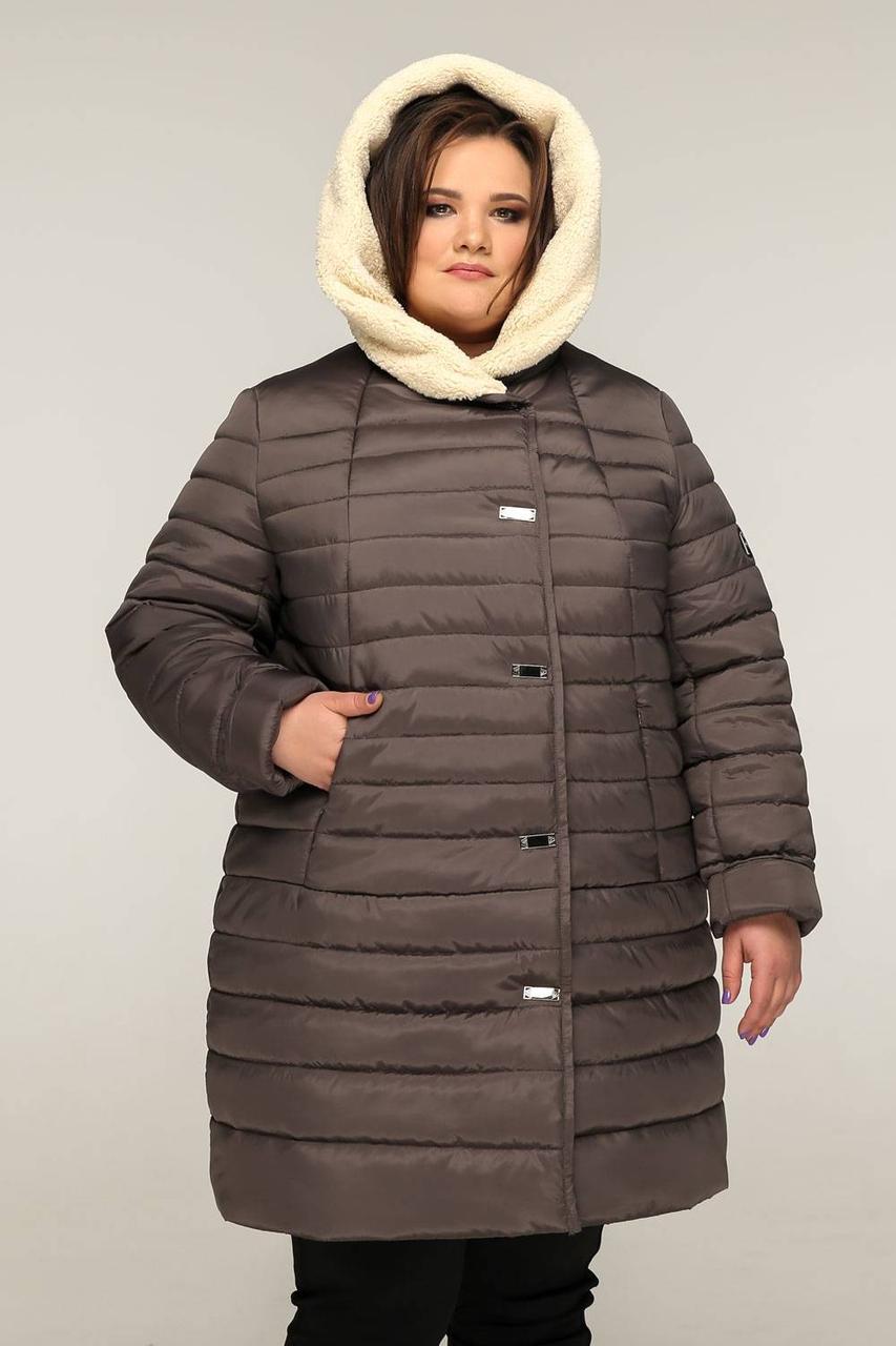 Жіночий зимовий пуховик великого розміру
