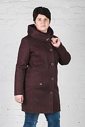 Женское утепленное пальто Мери шоколад