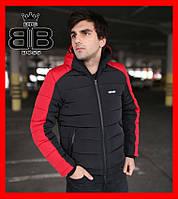 """Куртка мужская зимняя Intruder """"Impression"""",черная+красный"""