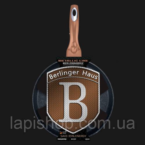 Сковорода блинная Berlinger Haus Metallic Line ROSE GOLD Edition BH 1523N 25 см, фото 1