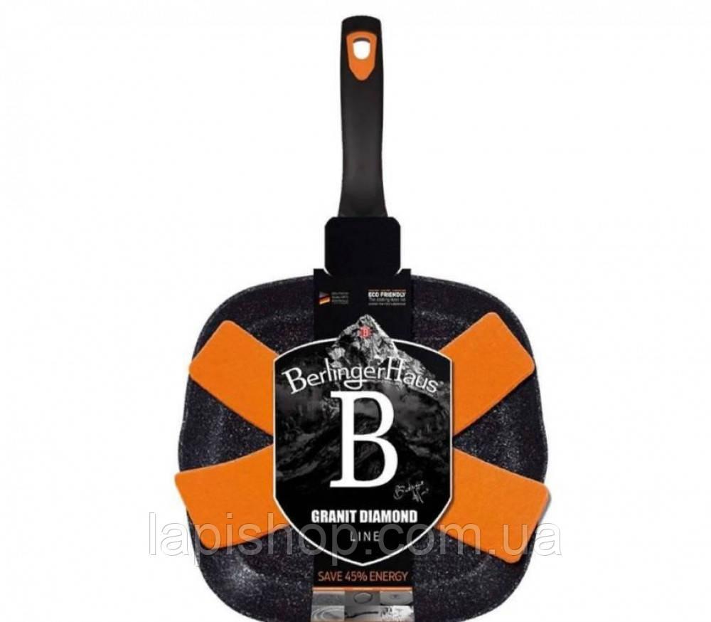 Сковорода-гриль Berlinger Haus BLACK ROSE Collection BH 1636N - 28x28 cм