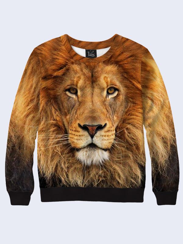 Свитшот женский Лев - царь зверей