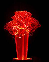 3d-светильник Букет 3 розы, 3д-ночник, несколько подсветок (батарейка+220В)