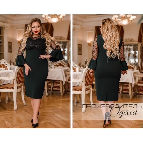 """Очень красивое нарядное платье """"Вероника"""" (чёрный, бутылка, марсала, фуксия)"""