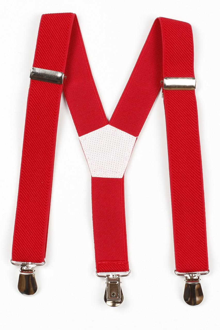 Подтяжки детские Y25 Top Gal красные однотонные цвета в ассортименте