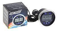 Авточасы VST 7042 V с термометром, вольтметром, автомобильные часы ВАЗ, ГАЗ, ЗАЗ