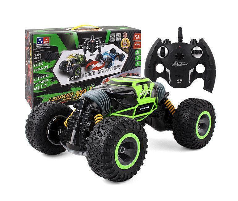 Трюковый BigFoot Rock Crawler на р/у, 41 см, UD2170A | Масштаб 1:12 | Зеленого цвета