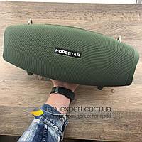 Портативная Bluetooth Колонка Hopestar X БАС ОРИГИНАЛ с микрофоном беспроводная акустика темно зеленая
