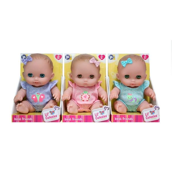 JC Toys Lil Cutesies All Vinyl Washable Doll Baby Doll Blue Eyes Lulu