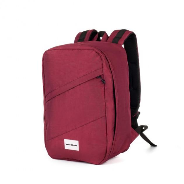 Стильный трендовый рюкзак 40*25*20 для лоукост поездок для ryanair и wizzair, бордовый