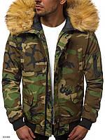 Мужская зимняя куртка с мехом камуфляжная J.Style 20190 молодежная