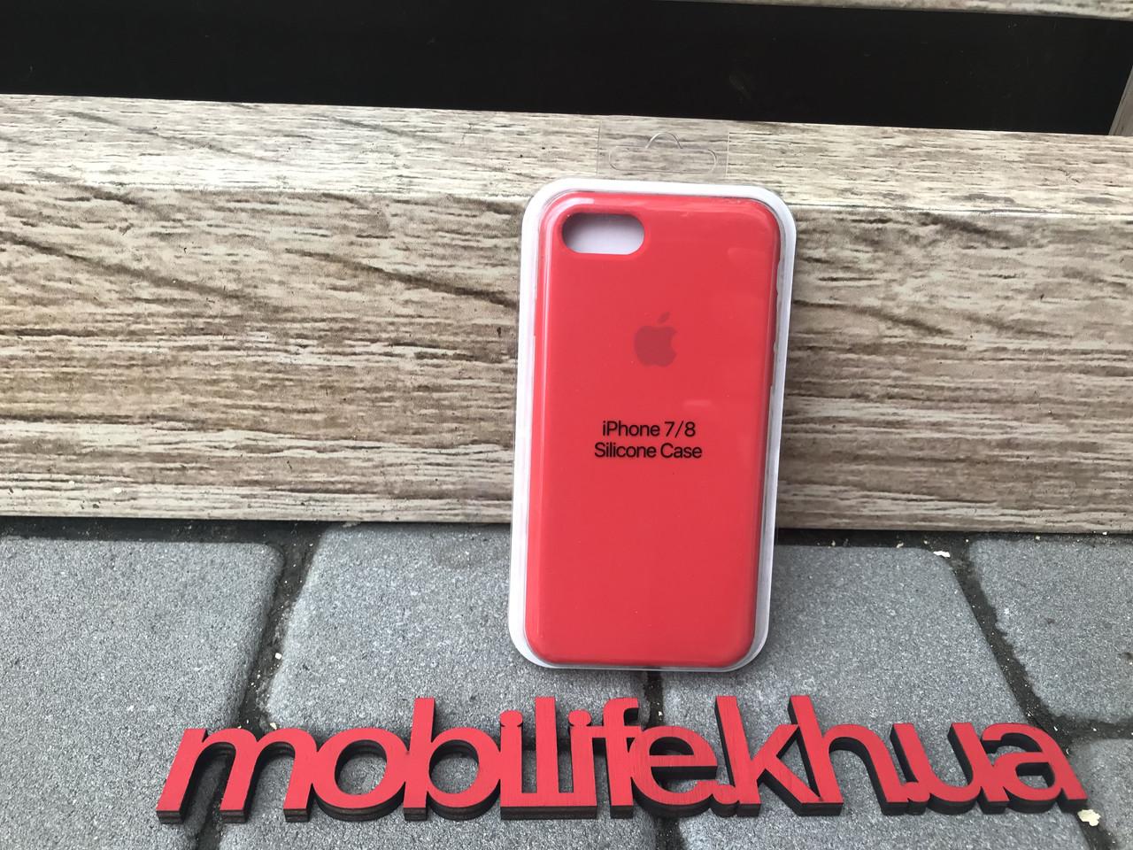 Silicon Case Original Apple iPhone 7,8,SE 2020/Красный/Высокое Качество/