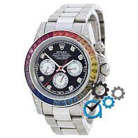 Часы наручные Rolex Cosmograph Daytona Rainbow Automatic Silver-Black