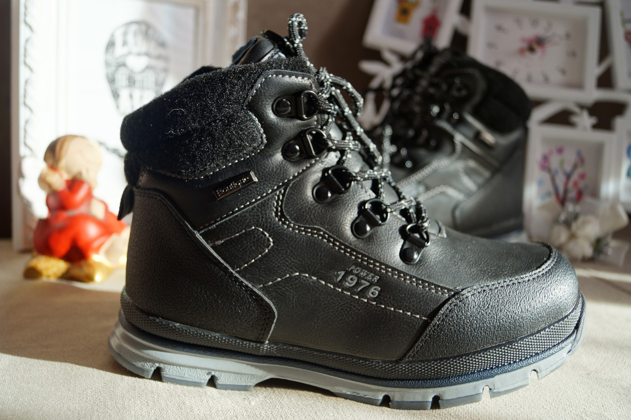 Ботинки сапожки зимние на мальчика черные 30-37 рр