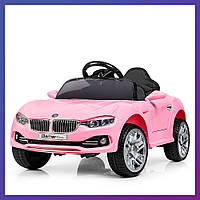 Детский электромобиль BMW c пультом Bambi M 3175 EBLR-8 розовый | Дитячий електромобіль Бембі рожевий