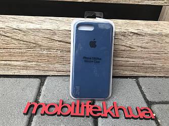 Silicon Case Original Apple iPhone 7Plus,8Plus/Синий/Высокое Качество/