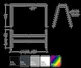 Стіл робочий Trapezio T 1200*600*740h, фото 3