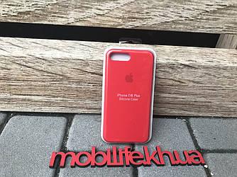 Silicon Case Original Apple iPhone 7Plus,8Plus/Красный/Высокое Качество/