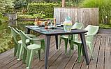 Стол садовый уличный Allibert Lima 160 Graphite ( графит ), фото 5