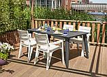 Стол садовый уличный Allibert Lima 160 Graphite ( графит ), фото 9