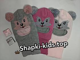 Шапка-Шлем для девочки Мордочка