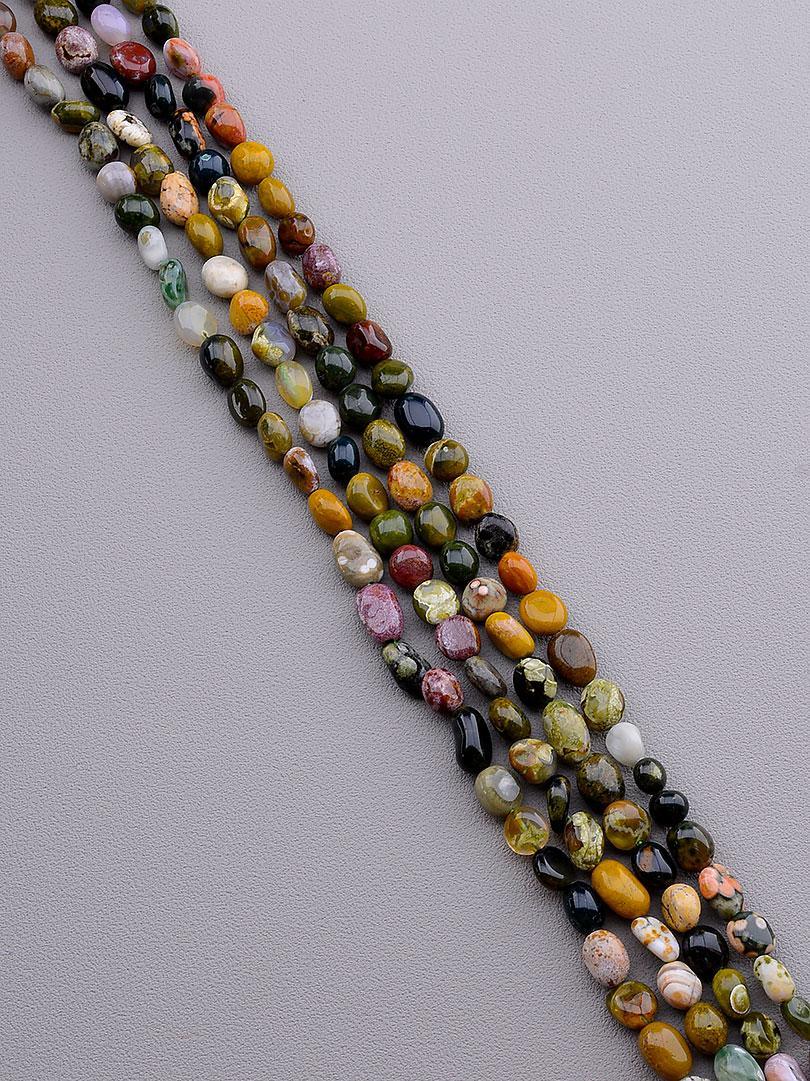 Заготовка для бус и браслетов нить из натурального камня Яшма 40 см  сертификаты на камни