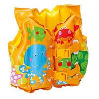 Детский надувной жилет Intex 59661 Рыбки Разноцветный ( 54351 )