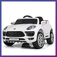 Детский электромобиль Porsche c пультом Bambi M 3178 EBLR-1 белый | Дитячий електромобіль Бембі белая