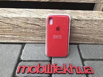 Чехол Silicon Case Original Apple iPhone XR/Красный/Высокое Качество/