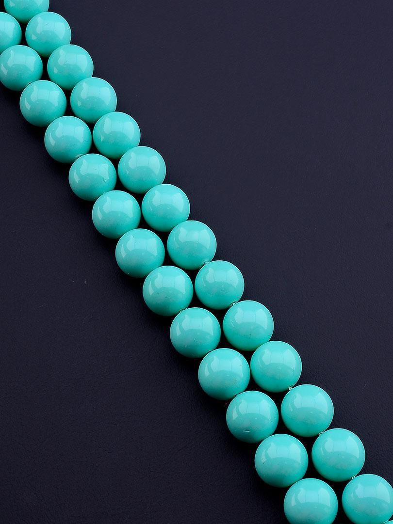 Нити из натуральных камней:  Майорка 40 см. 12 мм. (Без замка)