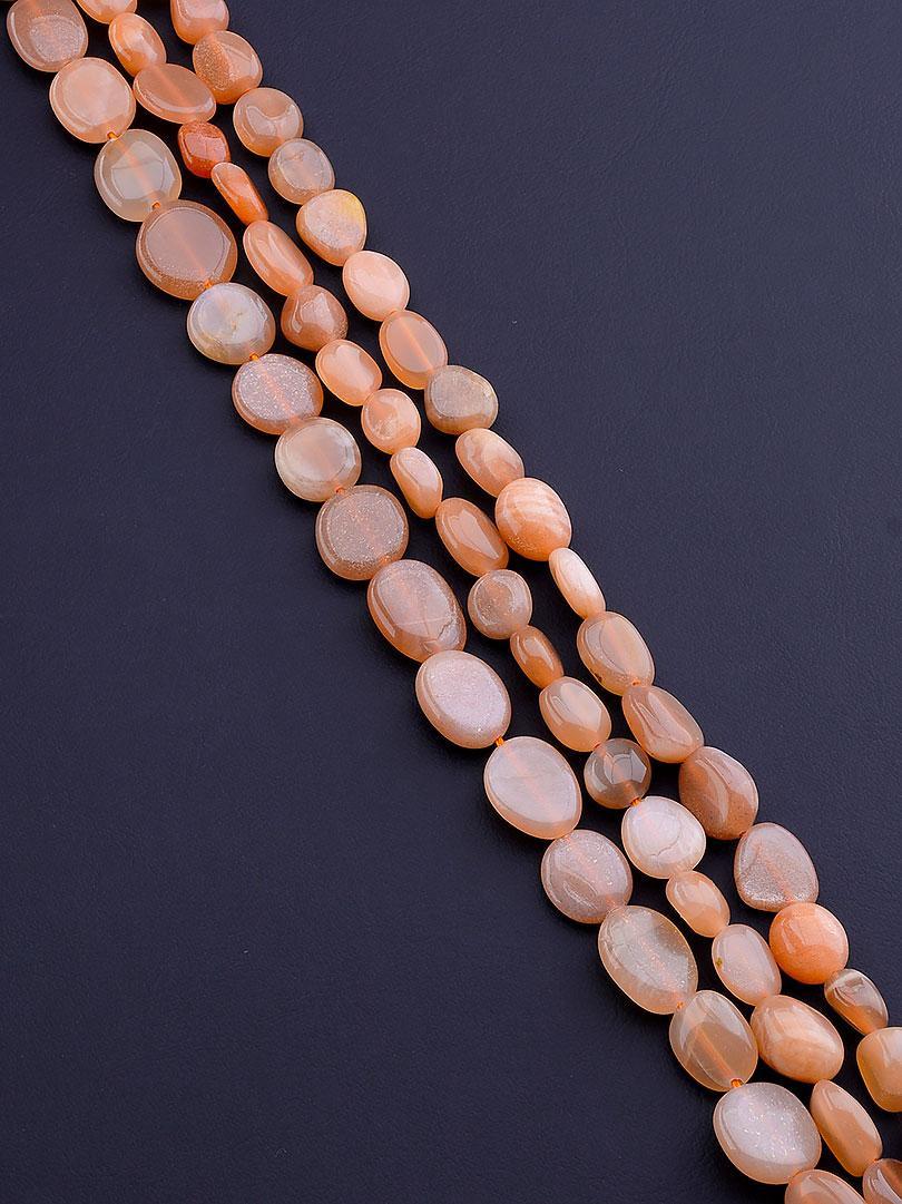 Нити из натуральных камней:  Солнечный камень 40 см. (Без замка)