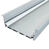 Профиль алюминиевый врезной ЛСВ-100 35х100 Biom (комплект профиль+линза), 2м