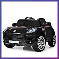 Детский электромобиль Porsche c пультом Bambi M 3178 EBLR-2 черный | Дитячий електромобіль Бембі чорний