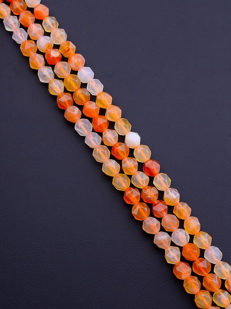 Заготовка для бус и браслетов нить из натурального камня Сердолик 31 см 7 5 мм  сертификаты на камни