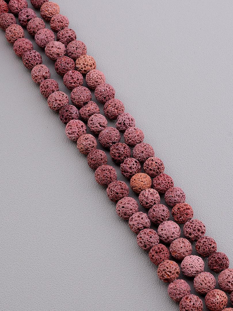 Нити из натуральных камней:  Лава 37 см. 8,5 мм. (Без замка)