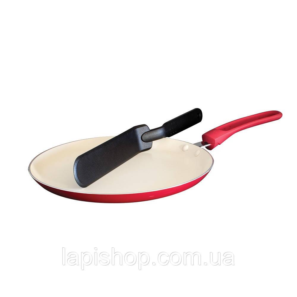 Сковорода блинная Blaumann BL-1531CR-SP + нейлоновая лопатка