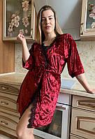 Велюровый женский халат.Разные цвета, фото 1