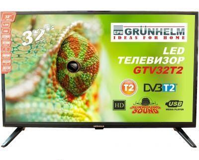 "Телевизор Grunhelm 32"" GTV32HD01T2 ( Гарантийный срок 24 мес )"