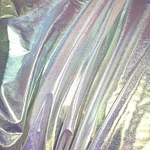 Плащевка металлик серебро хамелеон, фото 2