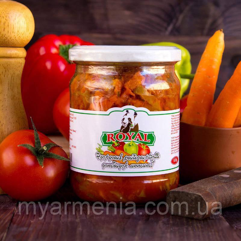 Армянские Овощи резаные в томатном соусе Royal