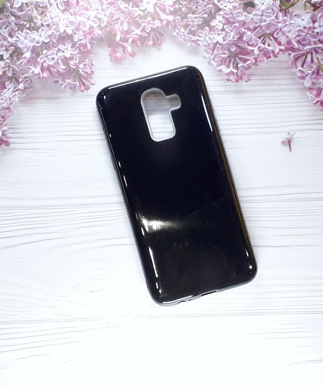 Чехол накладка Glitter на Samsung A6 Plus(2018)/ Samsung J8 2018, Black
