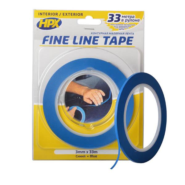HPX FINE LINE  - 3мм x 33м - маскирующая лента (скотч) для криволинейных форм