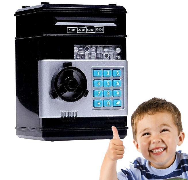 Электронная Копилка сейф с кодовым замком «Электронный сейф», копилка для денег с купюроприемником