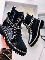 Зимние женские ботинки BALMAIN (реплика), фото 1