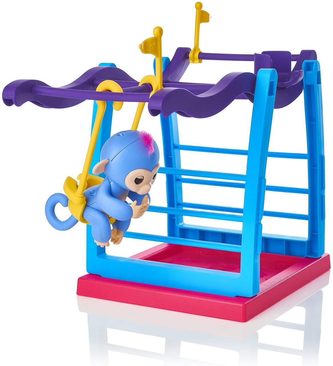 Интерактивная обезьянка с детской площадкой  WowWee Fingerlings Playset - Monkey Bar Playground