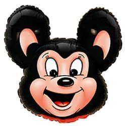 """Фольгированный шар Микки Маус Чёрный, Flexmetal (Испания), 27""""/68 см x 30""""/76 см"""