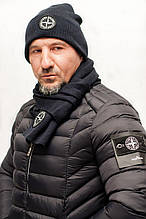 "Комплект ""Шапка и шарф мужские"""