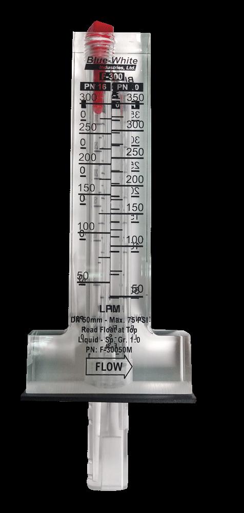 Флоуметр (Ротаметр) - механический прибор для измерения объемного расхода жидкости  диаметр 90 мм/15-66 m3/ч