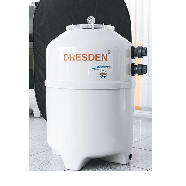 Фильтрационный бак DRESDEN2 600x980 мм (боковой вентиль, подключение 50 мм) Behncke Германия