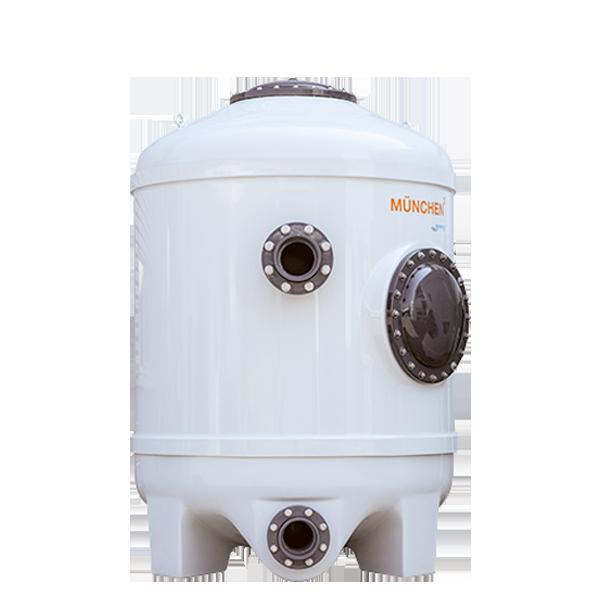 Фильтрационная бочка в бассейн MÜNCHEN 1000x1800 мм (боковой вентиль, подключение) Behncke Германия